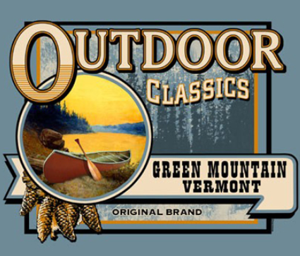 Outdoor Classic Mountain Design for T-shirt
